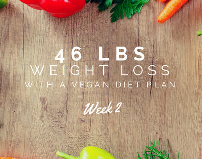 46 lbs Weight Loss with a Vegan Diet Plan┃Week 2